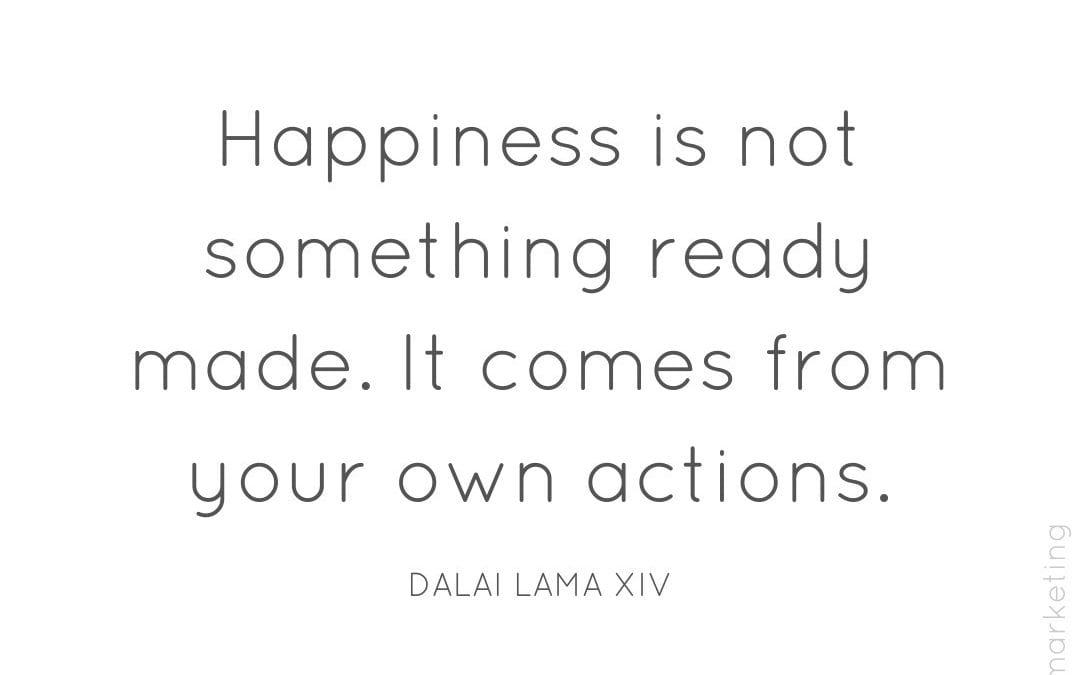 Control your own happiness